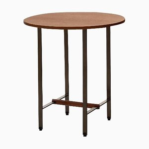 Walnut Round Sisters Side Table by Patricia Urquiola