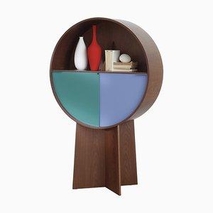 Walnut Luna Storage Cabinet by Patricia Urquiola