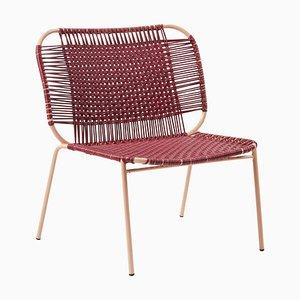 Purple Cielo Lounge Low Chair by Sebastian Herkner