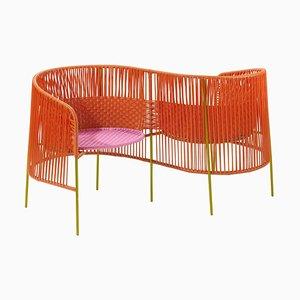 Orangefarbener Caribe Vis a Vis von Sebastian Herkner