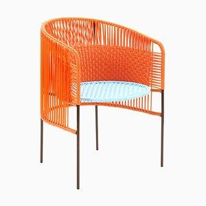 Chaise de Salle à Manger Caribe Orange Menthe par Sebastian Herkner