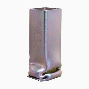 Vase XL en Zinc Plaqué par Tim Teven