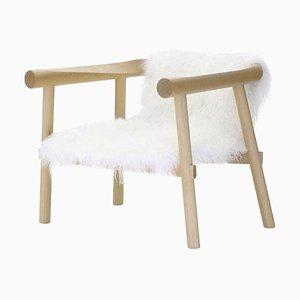 Weißer Ziegenleder Altay Sessel von Patricia Urquiola