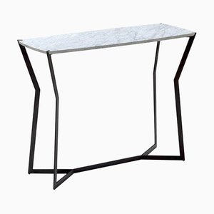 Carrara Marble Star Console Table by Olivier Gagier