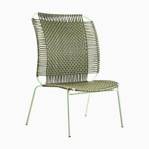 Chaise Haute Lounge Cielo Olive par Sebastian Herkner