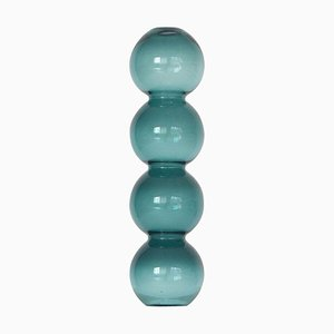 Teal Bubble Vase by Valeria Vasi