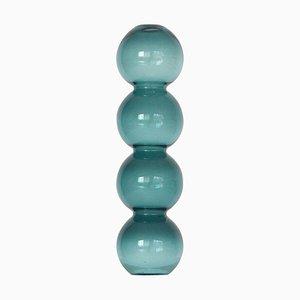 Vase Bulle Bleu Sarcelle par Valeria Vasi
