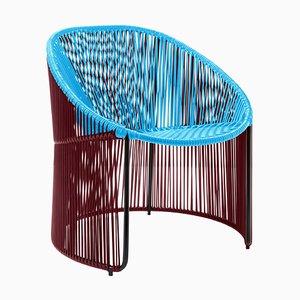 Blue Cartagenas Lounge Chair by Sebastian Herkner