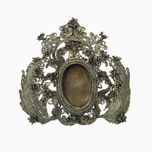 Russian Silver Photo Frame by Mikhail Szemjenovics Gubkin, 1862