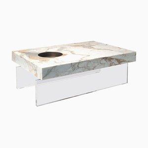 Kleiner Scoop Plexiglas Tisch von Stefano Belingardi Clusoni
