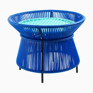 Blue Caribe Basket Table by Sebastian Herkner