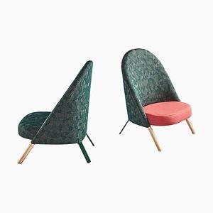 Okapi Armchairs by Perezochando, Set of 2