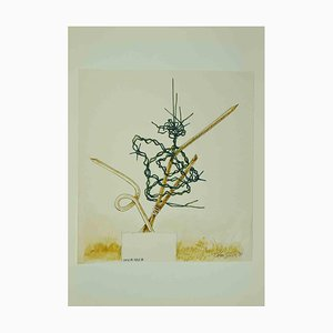Leo Guida, Abstract Composition, Original Drawing, 1970