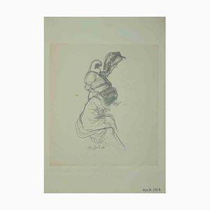 Leo Guida, Skizze, Originalzeichnung, 1970