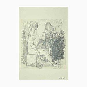 Leo Guida, Nude, Original Drawing, 1971