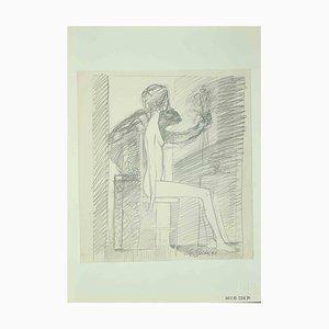 Leo Guida, Akt, Originalzeichnung, 1971