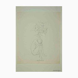 Leo Guida, Nude, Original Zeichnung, 1972