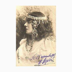 Unbekannt, Meyranne Hèglon Autogrammkarte, 1907