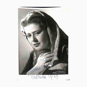 Unbekannt, Giannella Borelli Autogrammkarte, 1958