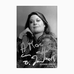 Eleonora Jankovic, Autogramm, 1970