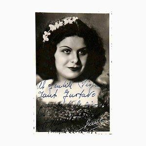 Unknown, Fernanda Basile Autographed Photocard, 1941