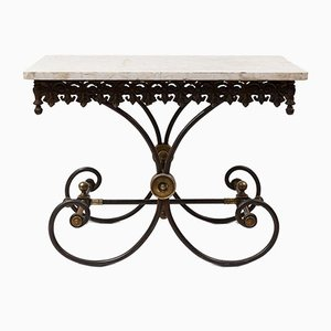 Early 20th Century Marble Garden Table