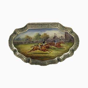 Silberne Antike Pillendose, 1880er