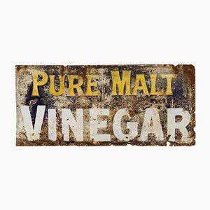 Grand Panneau Vinaigre de Malt en Émail, 1930s
