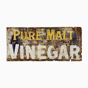 Large Enamel Malt Vinegar Sign, 1930s
