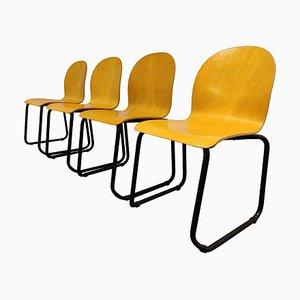Vintage Esszimmerstühle aus Schichtholz, 1970er, 4er Set