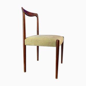 Stuhl aus Teak & Samt von Lübke, 1960er