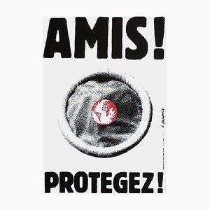 Amigos ¡Protege! Póster (Aids) de Roman Cieslewicz