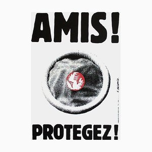 Friends ! Protect! (Aids) Poster by Roman Cieslewicz