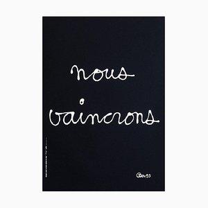 We Defeat (Aids) Poster by Ben Vautier
