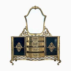 Französischer Nierenspiegel aus Bronze, 2er Set