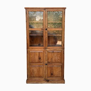19th Century Large Cabinet with Glass Vitrine