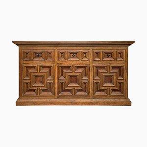 Buffet grande barocco in legno di quercia intagliato, XIX secolo