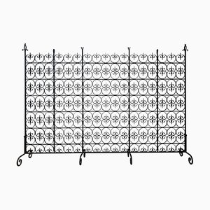 Large Decorative Wrought Iron Filigree Screen or Room Divider