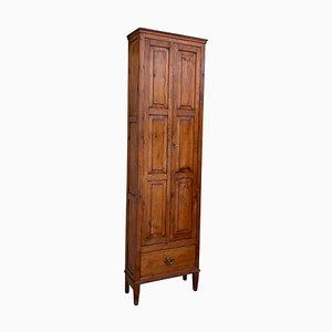 19th-Century Narrow Cupboard or Cabinet in Walnut