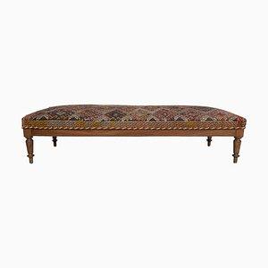 Large Louis XIV Style French Dark Oak Bench, 1920s