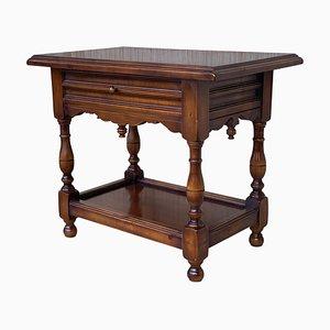 Spanischer Nachttisch oder Beistelltisch mit einer Schublade und niedrigem Regal von Valenti