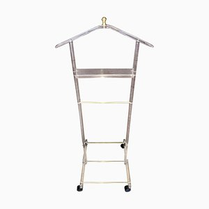 Mid-Century Modern Lucite Valet Stand with Wheels