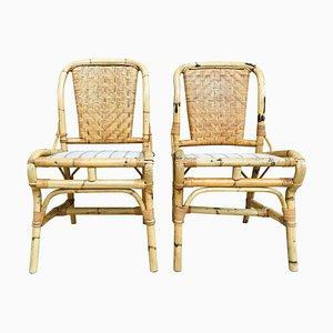 20. Spanische Bambus Stühle, 2er Set