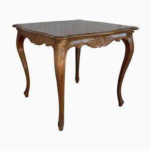 Französischer Spieltisch aus Nussholz im Louis XV Stil