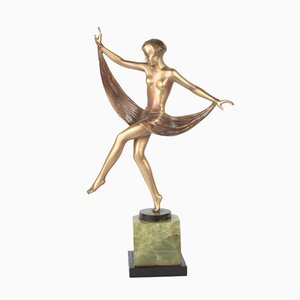 Viennese Art Deco Bronze Figure by Lorenzl