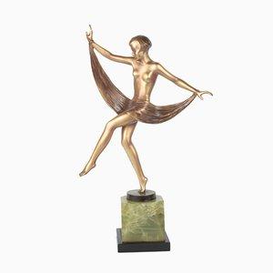 Wiener Art Deco Figur aus Bronze von Lorenzl