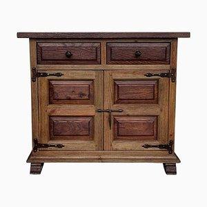 Buffet toscano a due cassetti in legno di quercia intagliato, XIX secolo