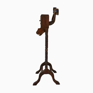 Italian Hollywood Regency Brass and Wood Valet Stand by Milo Baughman, 1970s