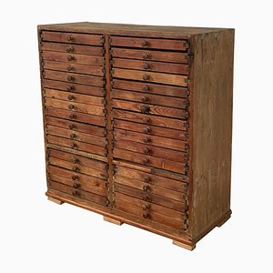 20th Century Spanish Oak Fitted Doctors Filing Cabinet, 1930s
