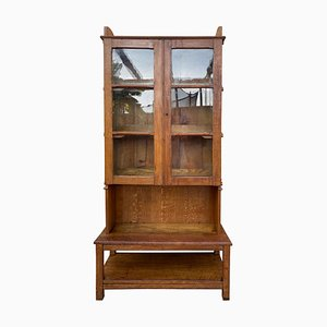 19th Century Large Bookcase with Glass Vitrine